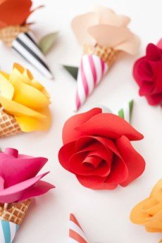 best-paper-flower-tutorials-for-your-wedding-paper-flower-cone-bouquets-bespoke-bride-wedding-blog