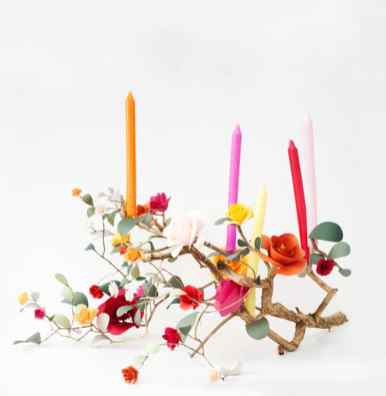 best-paper-flower-tutorials-for-your-wedding-rose-branch-candleabra-bespoke-bride-wedding-blog