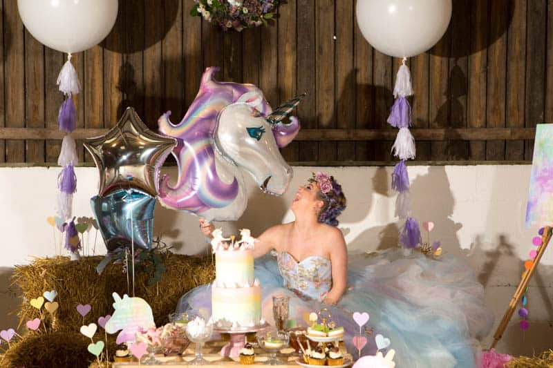COLORFUL UNICORNS AND RAINBOWS THEMED WEDDING IDEAS (25)