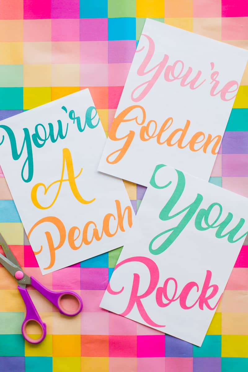 free-printable-thank-you-cards-calligraphy-modern-wedding-postcard-colourful-4-youre-golden-youre-a-peach-you-rock