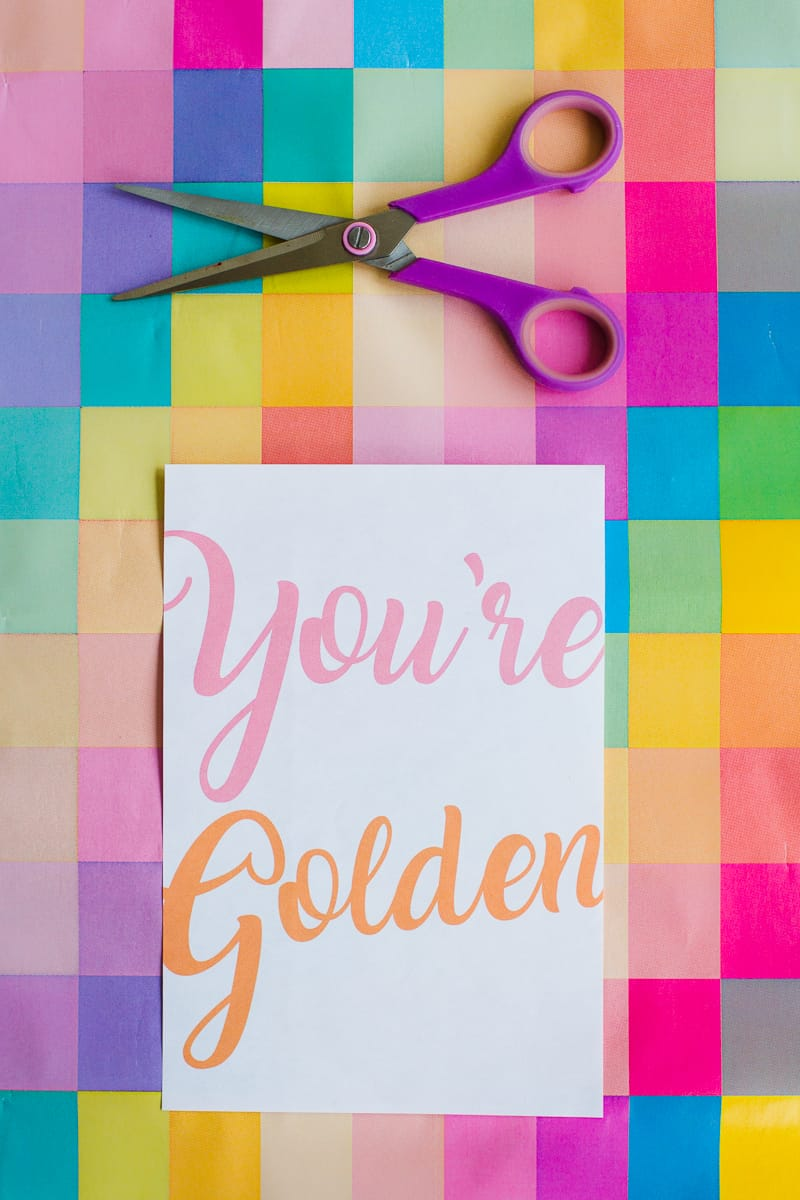 free-printable-thank-you-cards-calligraphy-modern-wedding-postcard-colourful-5-youre-golden