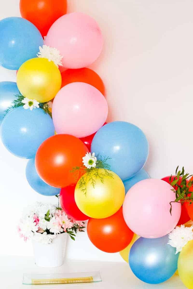 DIY Balloon Backdrop Arch Colourful Fun-10
