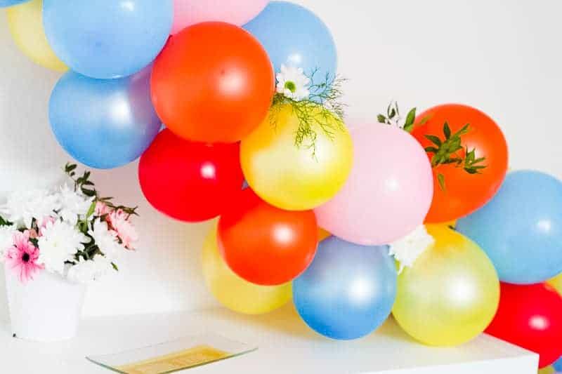 DIY Balloon Backdrop Arch Colourful Fun-14