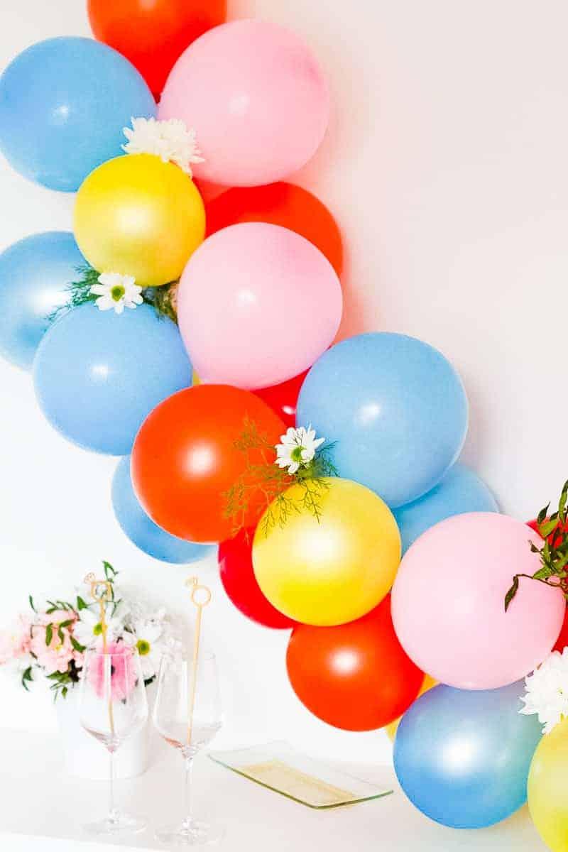 DIY Balloon Backdrop Arch Colourful Fun-5
