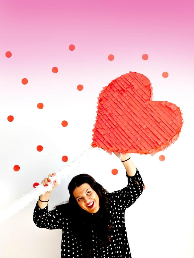 DIY Heart Lollipop Piñata for Valentines Day party fun pinata tutorial-11