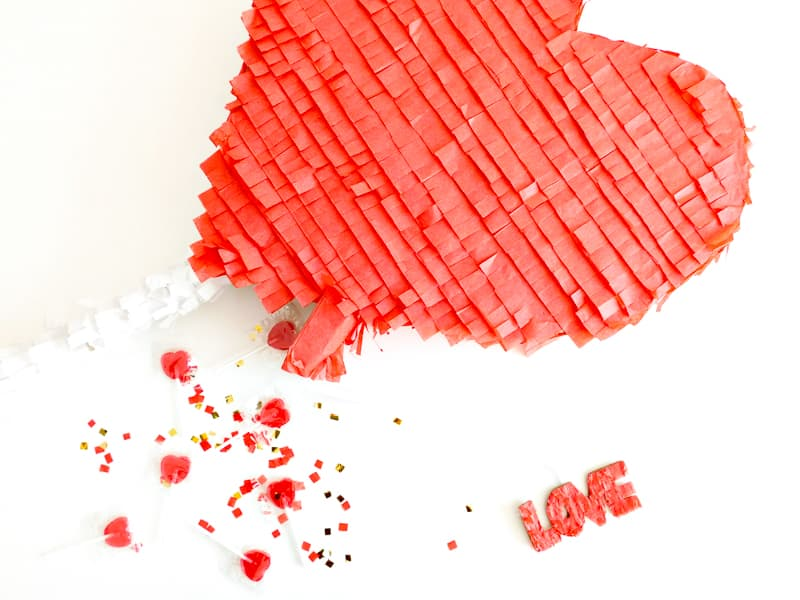 DIY Heart Lollipop Piñata for Valentines Day party fun pinata tutorial-16