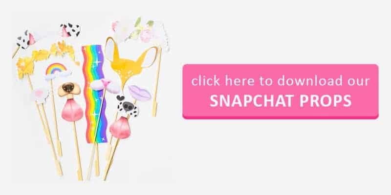 Snapchat Props Button