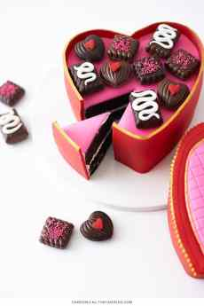 How to make a Valentine's Chocolate Candy Box Cake | by Cakegirl