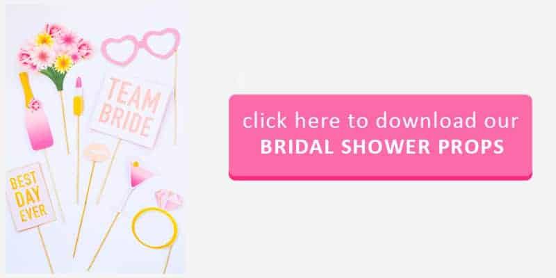 Bridal Shower Props Button
