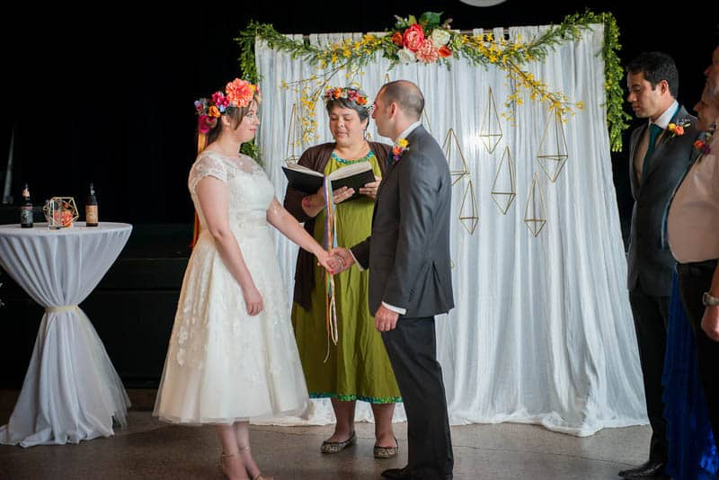 COLOURFUL GEOMTRIC ELOPEMENT AFTER PARTY RECEPTION IN A MUSIC HALL (13)