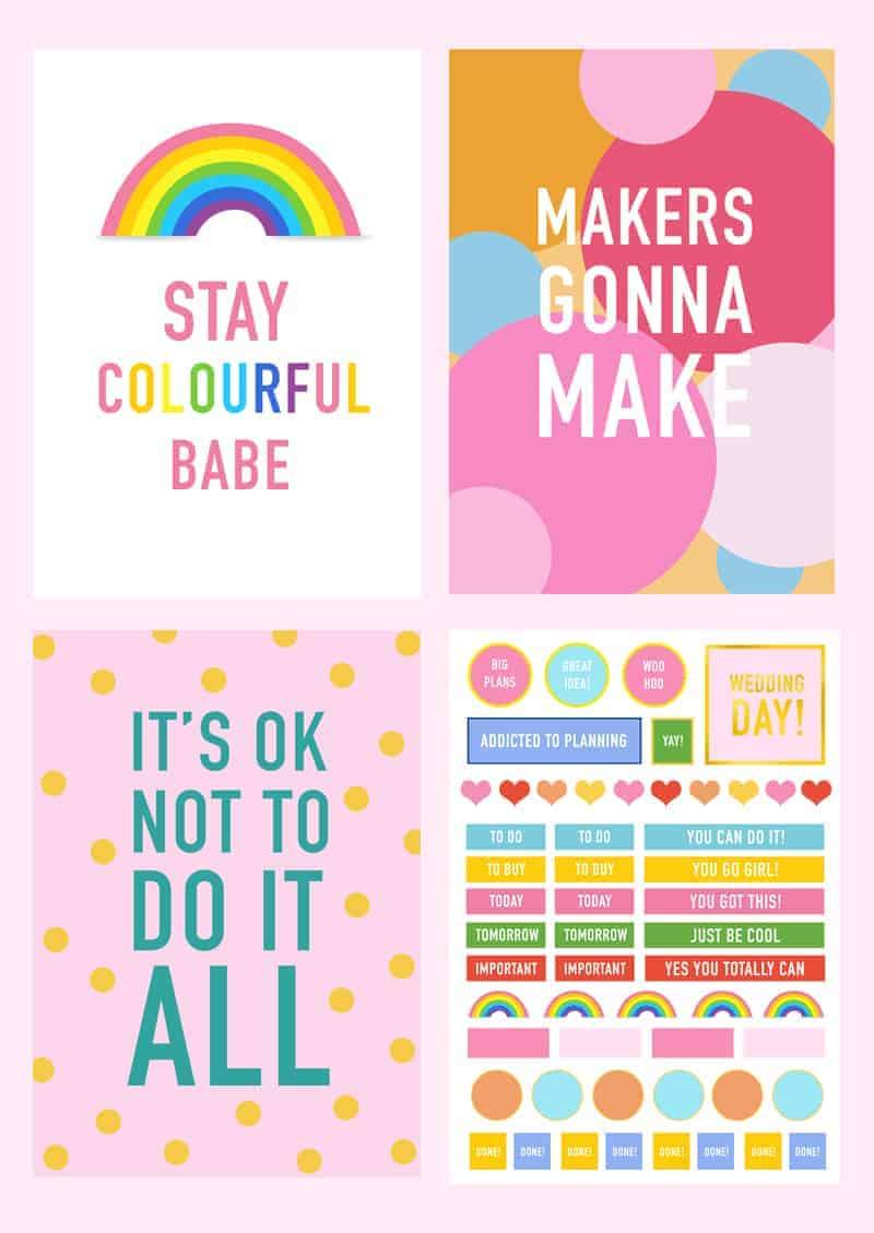 Printable DIY Wedding Planner Organiser Prints 2