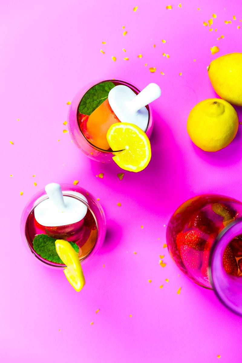 Boozy Adult Popsicles Lolly Ice Cocktail Recipe Drinks Summer Fruit-3