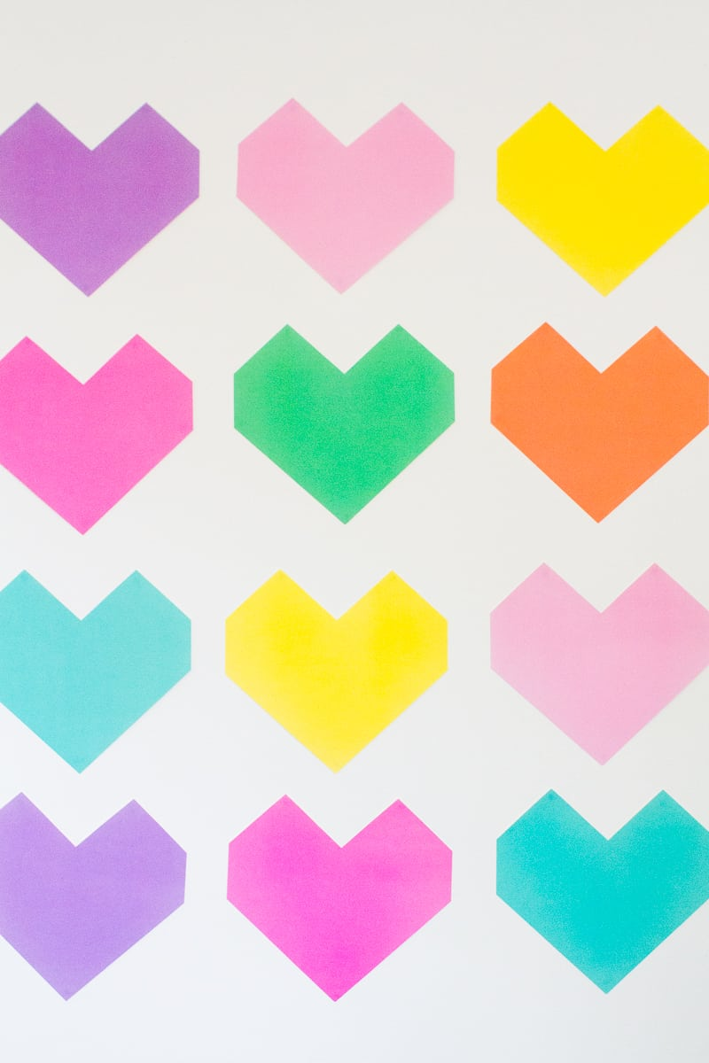 Easy DIY Backdrop Altar Paper Colourful Fun Geometric Heart Tutorial-4