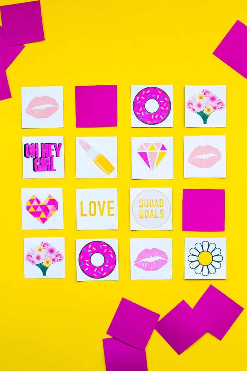 Free Printable Memory Game Bridal shower Bachelorette fun easy girlie pink download-3