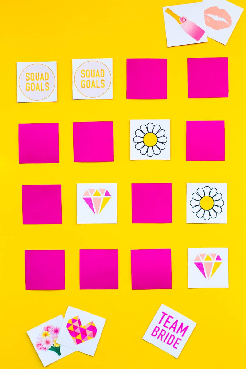 Free Printable Memory Game Bridal shower Bachelorette fun easy girlie pink download-8