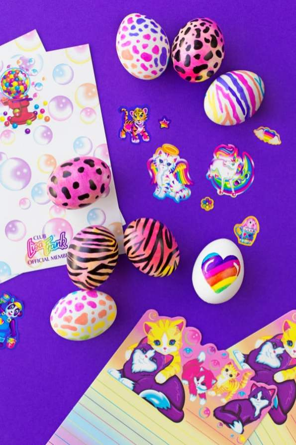 Lisa Frank Easter Eggs - Studio DIY