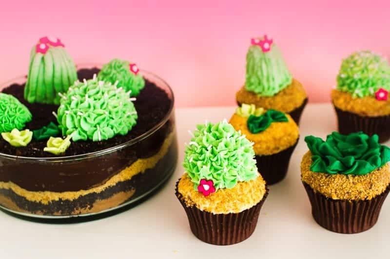 DIY Succulent Cactus Cupcakes Tutorial Cacti Fun Unique Terrarium Two Little Cats Bakery Greenery Green Spring Themed-23