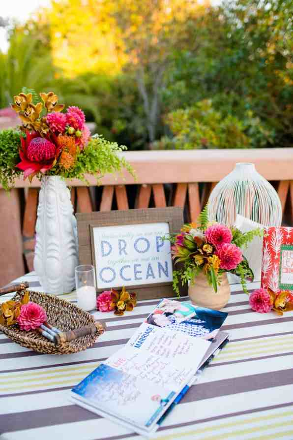 HAWAIIAN INSPIRED COLOURFUL WEDDING WITH PINEAPPLES COCKTAILS BRIGHT YELLOW COLOUR SCHEME-54