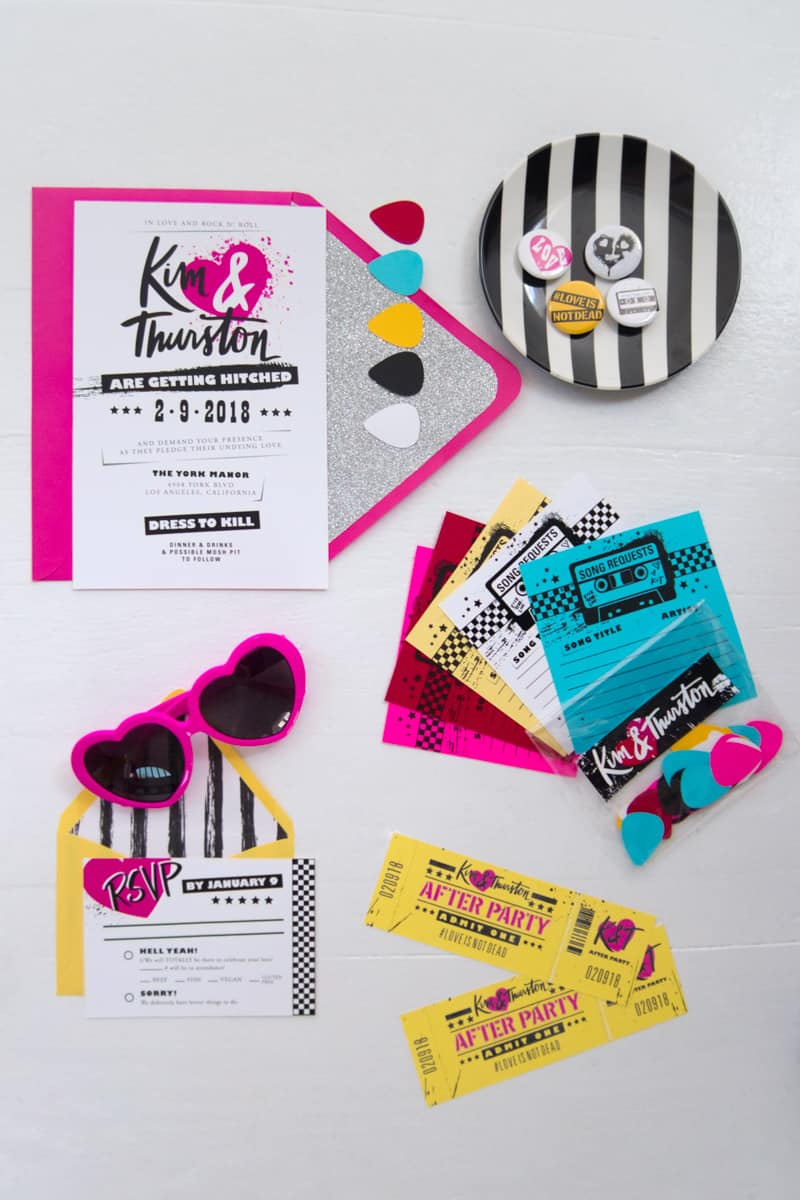 COLORFUL PUNK INSPIRED WEDDING IDEAS | Bespoke-Bride: Wedding Blog