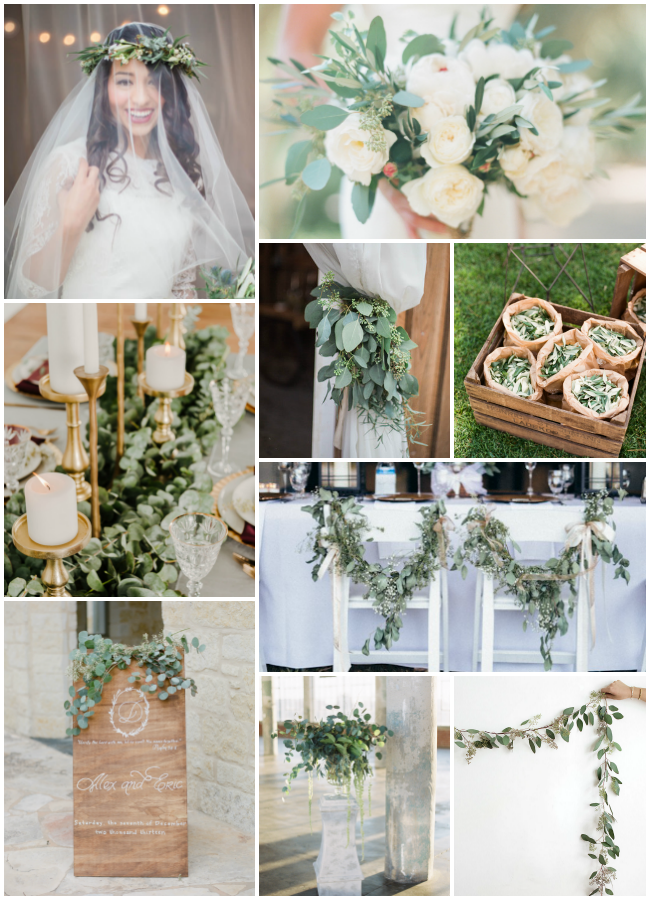 Eucalyptus Dreamy Greens As Wedding Decor Bespoke Decor