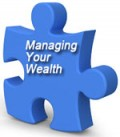 """Image of a Puzzle Piece with Caption """"Managing Your Wealth"""""""