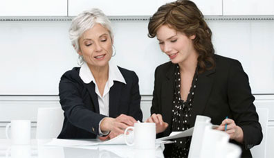 Image of two women meeting