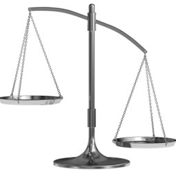 Image of a Scale - symbolizing Pension Decision options