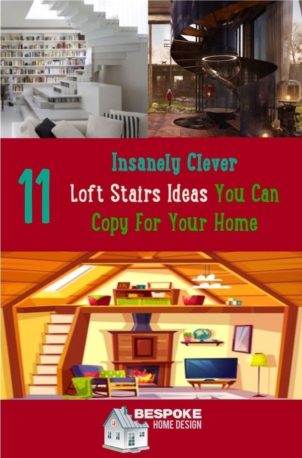 11 Insanely Clever Loft Stairs Ideas You Can Copy For Your Home | Clever Stairs For Small Spaces | Staircase | Upstairs Small Space | Front Window | Small Area | Mini