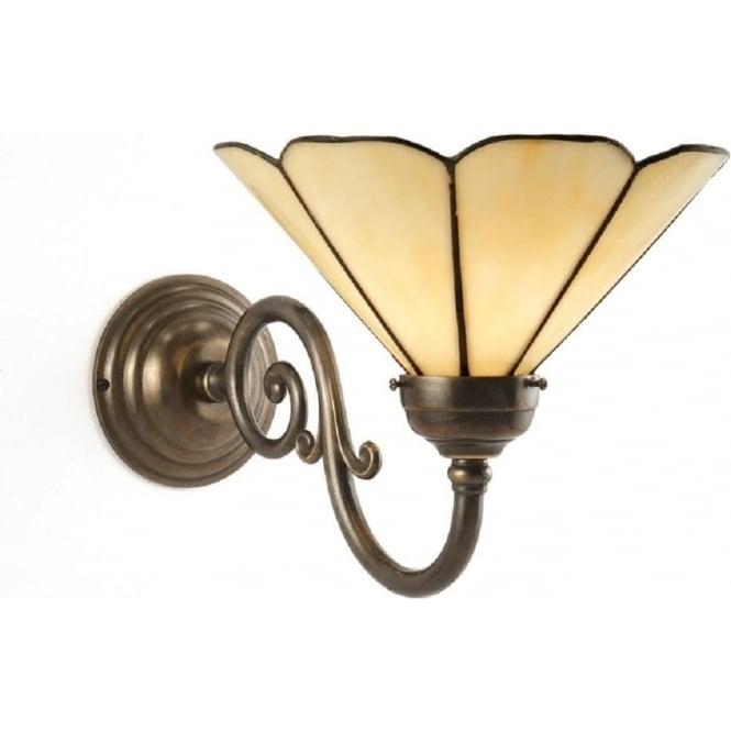 grande traditional aged brass tiffany wall light