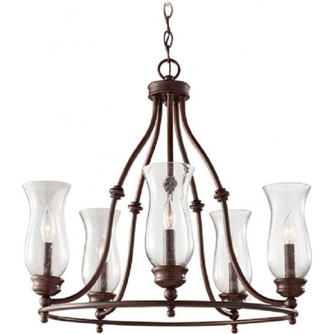 pickering lane bronze farmhouse style chandelier 5 light