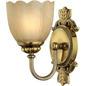 IP44 Traditional Bathroom Wall Light Burnished Brass