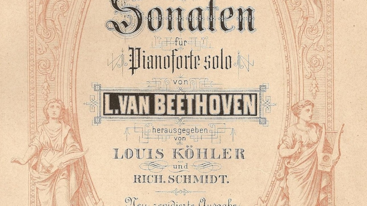 Beethoven sheet music, Bespoke Records.  Credit: Wikipedia