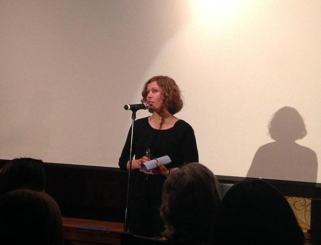 Amanda Kernell bei der Preisverleihung