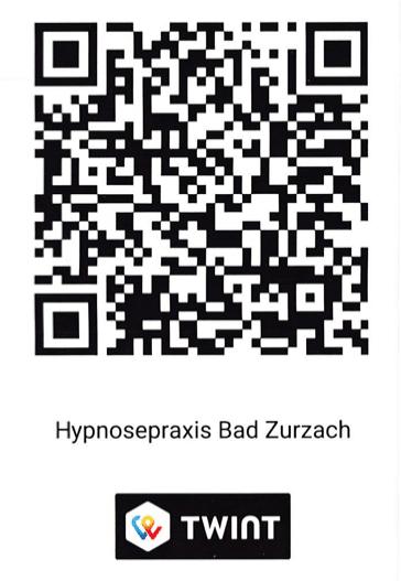 Twint QR-Code für die Hypnosepraxis Bad Zurzach und Zürich