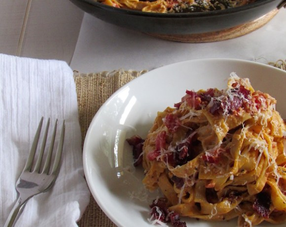Cottage Bacon and Tomato Carbonara