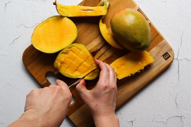 how to chop a mango step by step