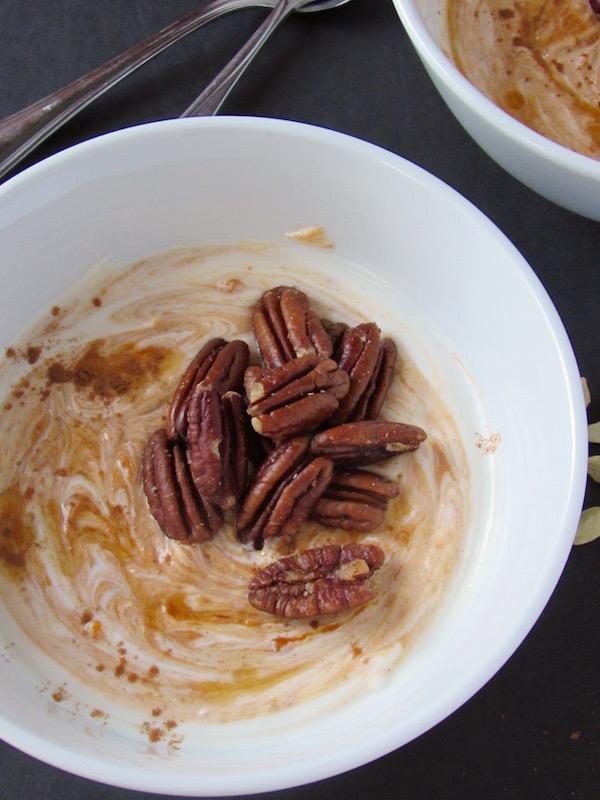 Pumpkin chai yogurt bowl
