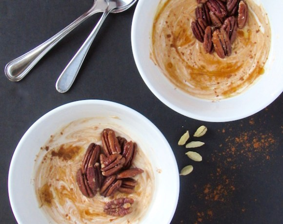 Pumpkin Chai Yogurt w/ Coconut Oil Roasted Pecans