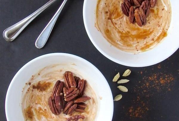 Pumpkin Chai Yogurt w/ Coconut Oil Roasted Pecans