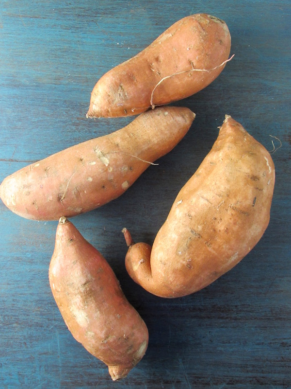 Whole sweet potatoes