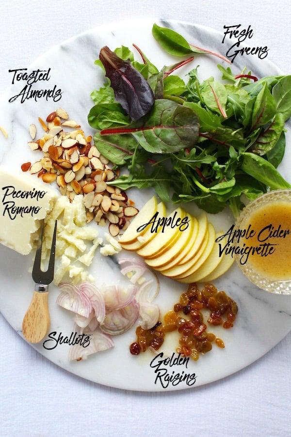warm apple salad ingredients