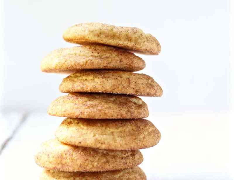 soft chai snickerdoodle cookie recipe featured image