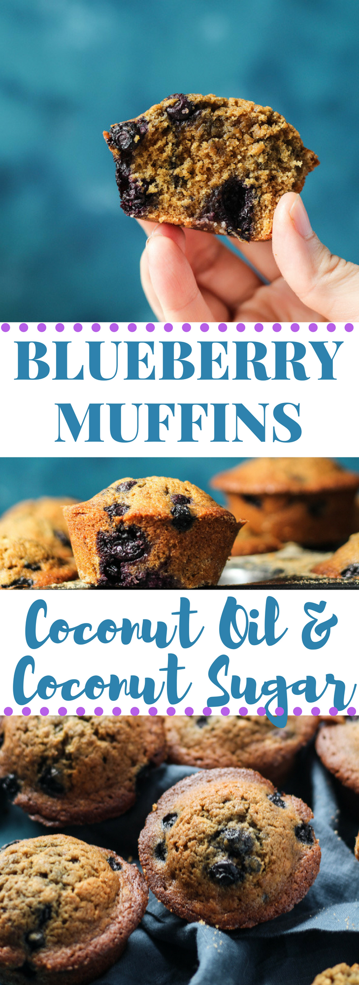 Blueberry muffins with coconut oil and coconut sugar pinterest