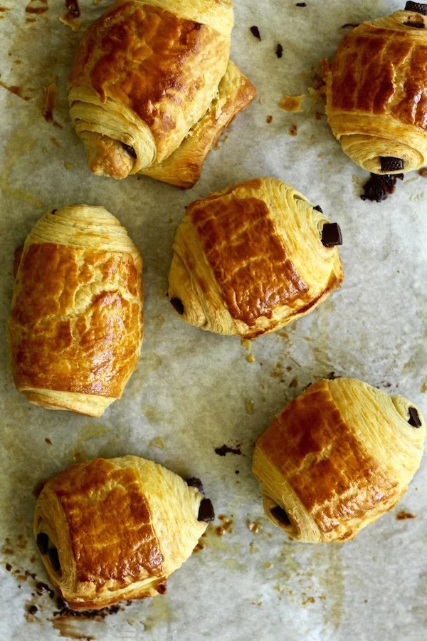chocolate croissants baked