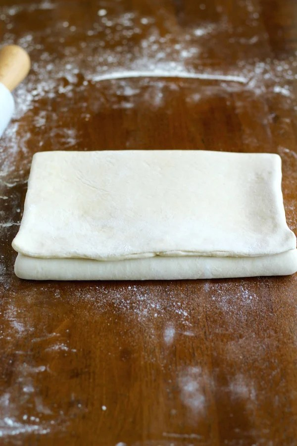 croissant dough first fold width wise