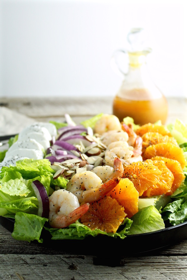 shrimp salad orange vinaigrette