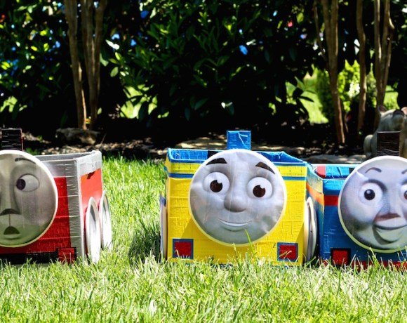 ADORABLE THOMAS THE TRAIN BIRTHDAY PARTY