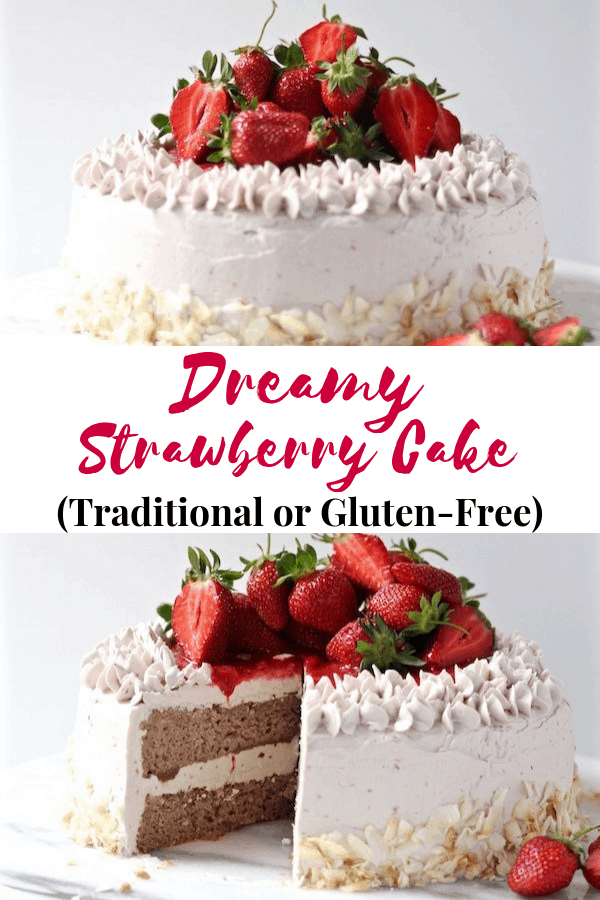 Try this mosit Strawberry Cake Recipe step-by-step photos with gluten free or traditional flours