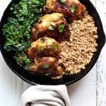 crispy chicken kale farro salad