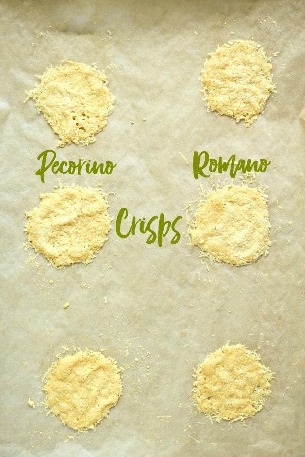 Pecorino Romano Crisps baked